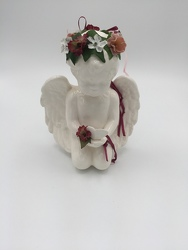 Cherub with Floral Halo from Eagledale Florist in Indianapolis, IN