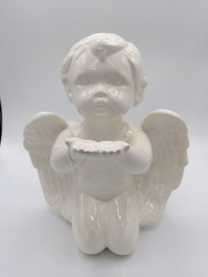 Medium Musical Cherub from Eagledale Florist in Indianapolis, IN