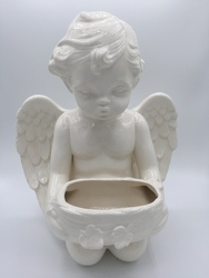 Cherub with Basket from Eagledale Florist in Indianapolis, IN