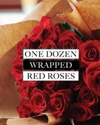 Dozen Wrapped Roses