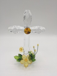 Standing Acrylic Cross Yellow from Eagledale Florist in Indianapolis, IN