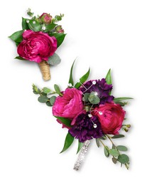Allure Corsage and Boutonniere Set from Eagledale Florist in Indianapolis, IN