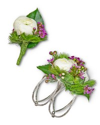 Intrinsic Corsage and Boutonniere Set from Eagledale Florist in Indianapolis, IN