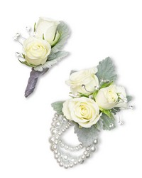 Virtue Corsage and Boutonniere Set from Eagledale Florist in Indianapolis, IN