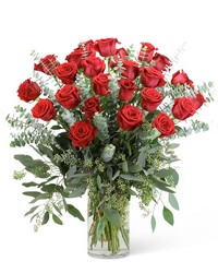 Red Roses with Eucalyptus Foliage (24) from Eagledale Florist in Indianapolis, IN