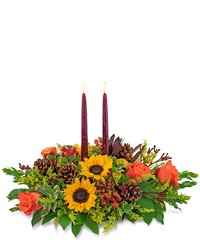 Autumnal Abundance Centerpiece from Eagledale Florist in Indianapolis, IN