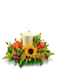 Seasonal Saffron Centerpiece from Eagledale Florist in Indianapolis, IN