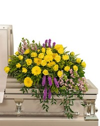 Sunshine from Heaven Casket Spray from Eagledale Florist in Indianapolis, IN