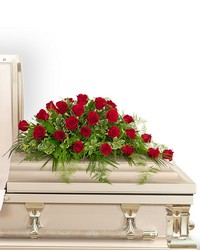 24 Red Roses Casket Spray from Eagledale Florist in Indianapolis, IN