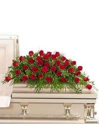 36 Red Roses Casket Spray from Eagledale Florist in Indianapolis, IN