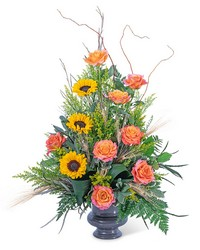 Sunset Solstice Urn from Eagledale Florist in Indianapolis, IN