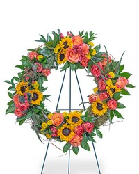 Sunset Reflections Wreath from Eagledale Florist in Indianapolis, IN