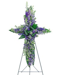 Larkspur Affinity Cross from Eagledale Florist in Indianapolis, IN