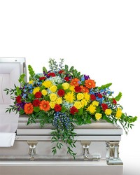 Vibrant Life Casket Spray from Eagledale Florist in Indianapolis, IN