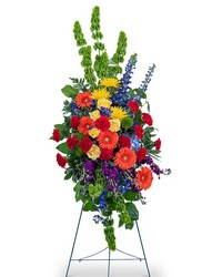 Vibrant Life Standing Spray from Eagledale Florist in Indianapolis, IN