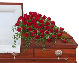 Simply Roses  Supreme Casket Spray from Eagledale Florist in Indianapolis, IN